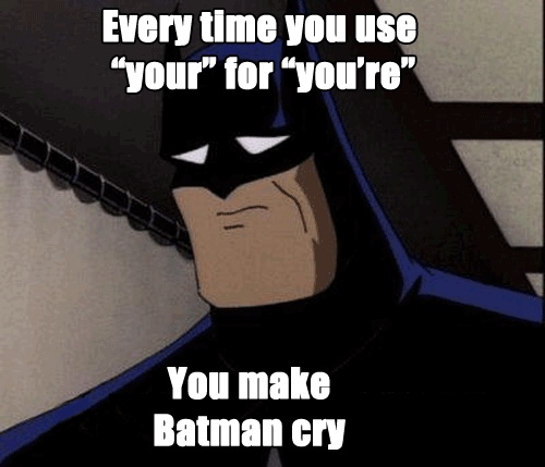 Batman saying,