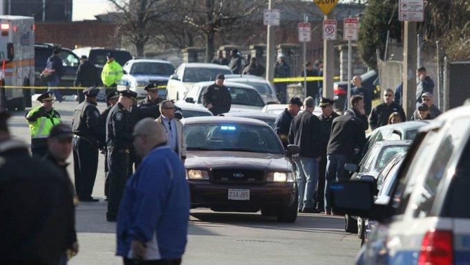 A city crime scene